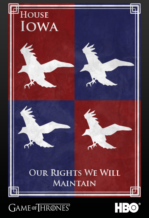 'Game of thrones' fans State Sigils HBO's website Iowa