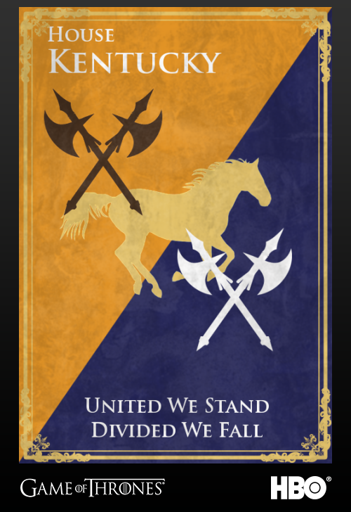 'Game of thrones' fans State Sigils HBO's website Kentucky