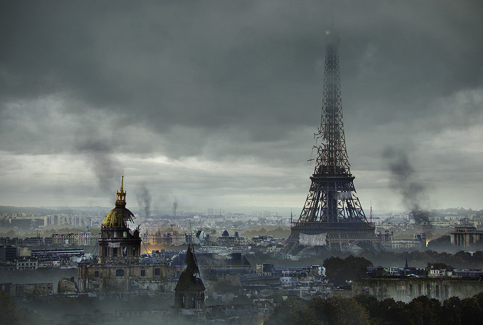 The last of us: apocalyptic pictures of the end of the world The Eiffel Tower