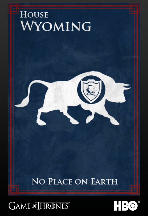 'Game of thrones' fans State Sigils HBO's website Wyoming