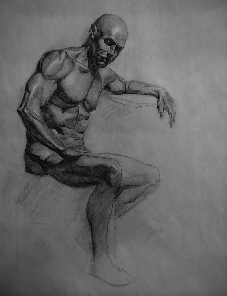 charcoal drawings after three months of learning. some awesome works of  pavelsokov