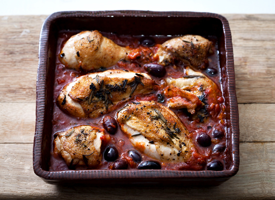 French food? Here are some recipes  Chicken Provencal