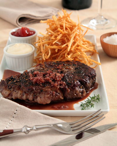 French food? Here are some recipes  Steak Au Poivre With Red Wine Sauce