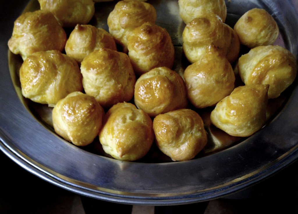 French food? Here are some recipes  Gougères