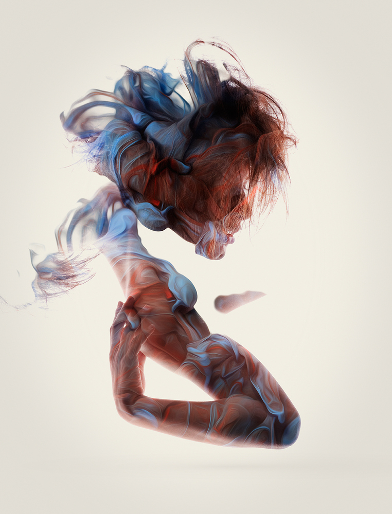 artistic liquid ink portraits of nudity
