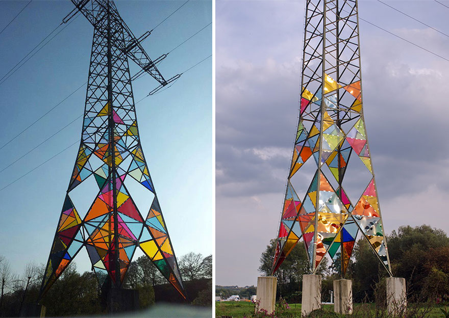 Ugly Towers Were Turned Into Some Creative Colorful Lighthouses