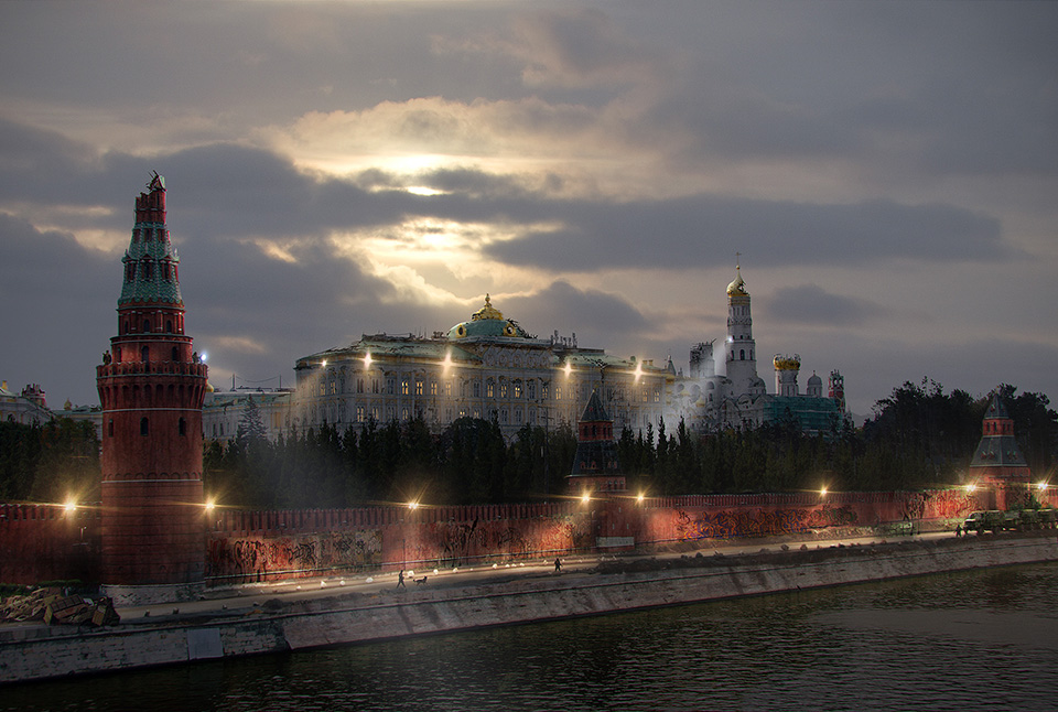 The last of us: apocalyptic pictures of the end of the world Moscow Kremlin
