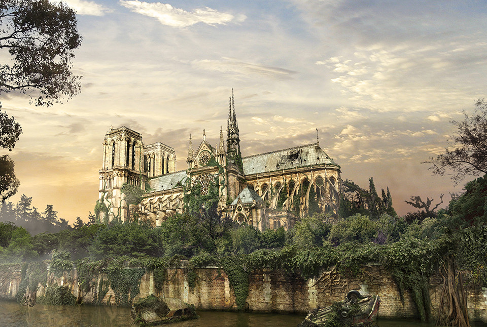 The last of us: apocalyptic pictures of the end of the world Notre Dame de Paris