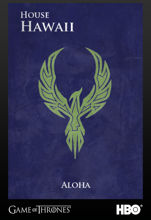 'Game of thrones' fans State Sigils HBO's website Hawaii
