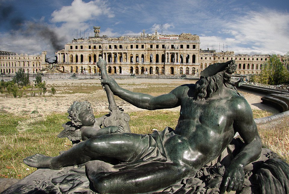 The last of us: apocalyptic pictures of the end of the world Palace of Versailles