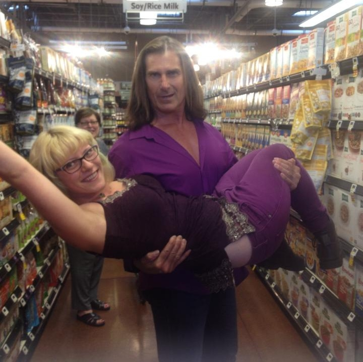 Nothing, just a normal day at the market… with Fabio! He literally holds everyone up!