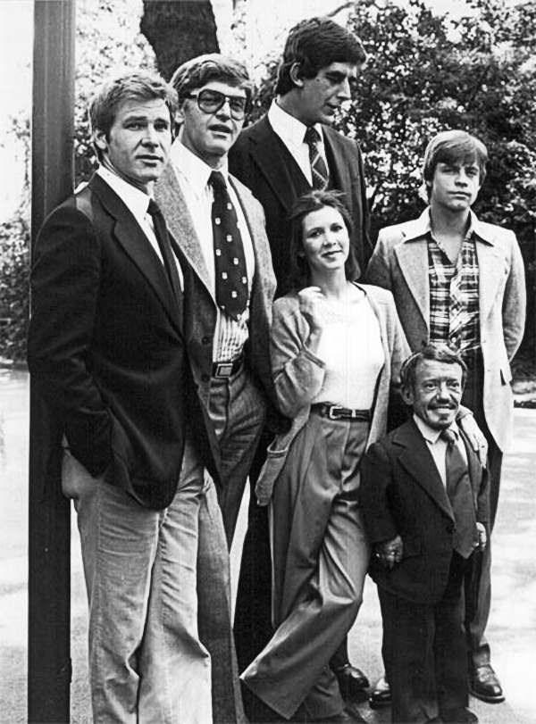 rare photos of the old and the dead The Cast of the Original Star Wars Trilogy