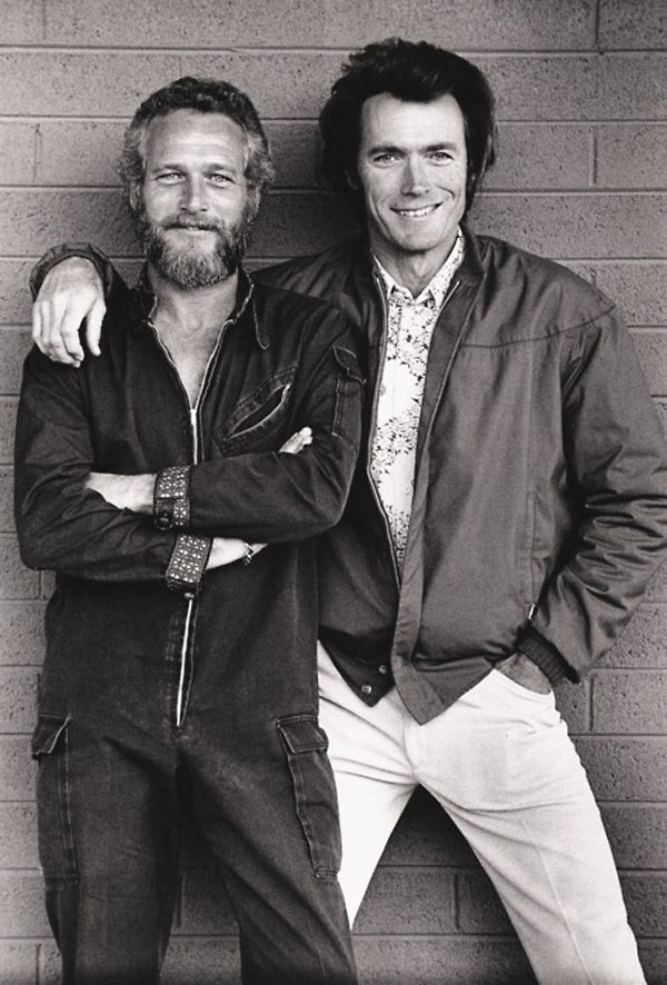 rare photos of the old and the dead Paul Newman and Clint Eastwood