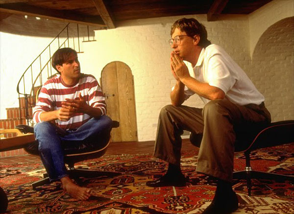 rare photos of the old and the dead Steve Jobs and Bill Gates