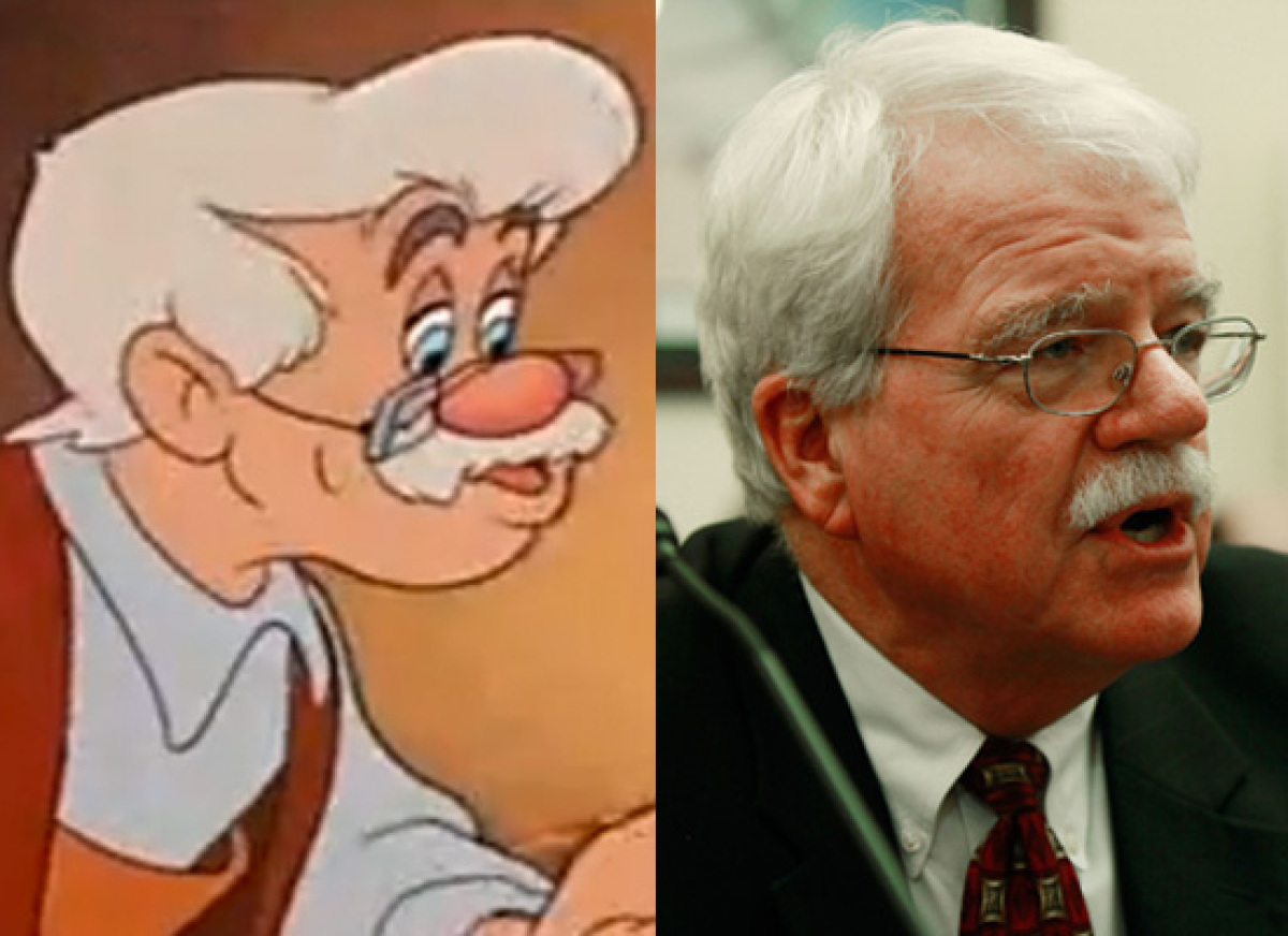 Politicians Who Look Like Disney  Rep. George Miller (D-Calif.) & Mister Geppetto (Pinocchio)