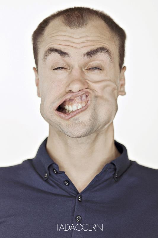 Wind Tunnel Portraits, funny, bizarre facial expressions