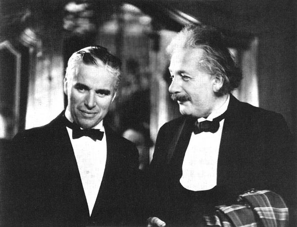 rare photos of the old and the dead Charlie Chaplin and Albert Einstein