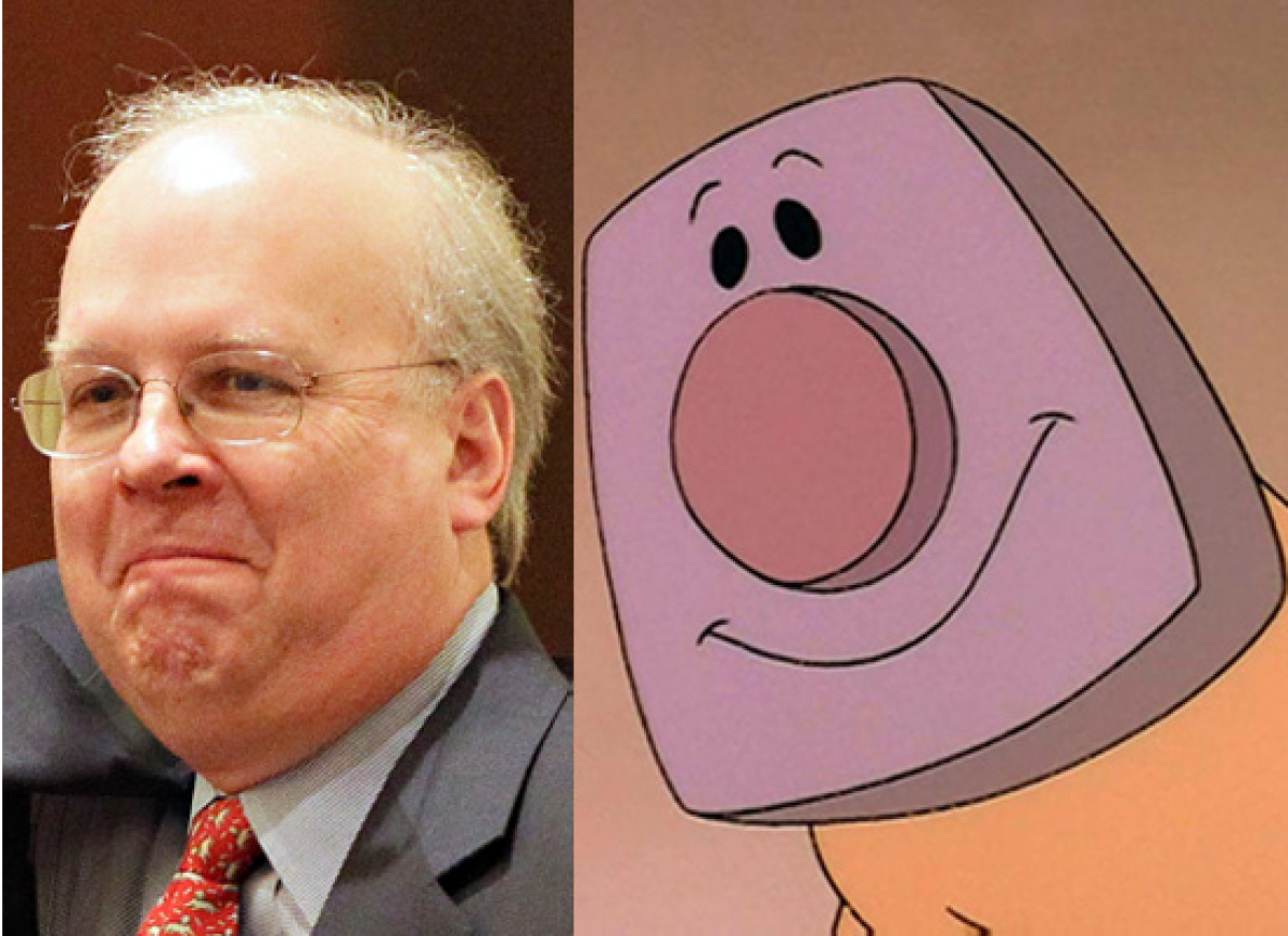 Politicians Who Look Like Disney  Karl Rove & Blanky (The Brave Little Toaster)