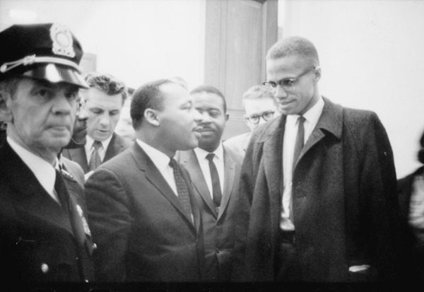 rare photos of the old and the dead Martin Luther King Jr. and Malcolm X