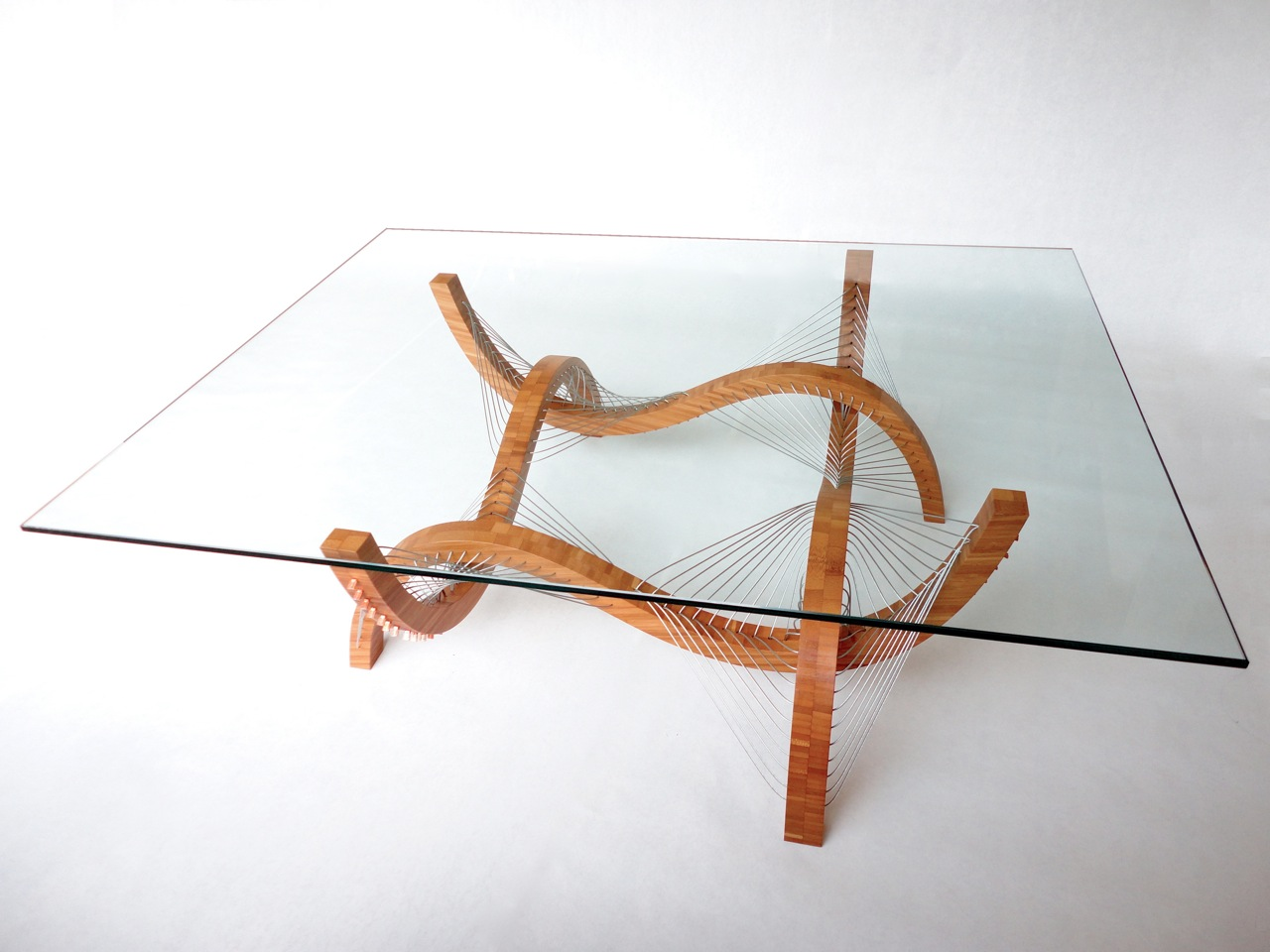 Awesome furniture are held together only by tension  Table