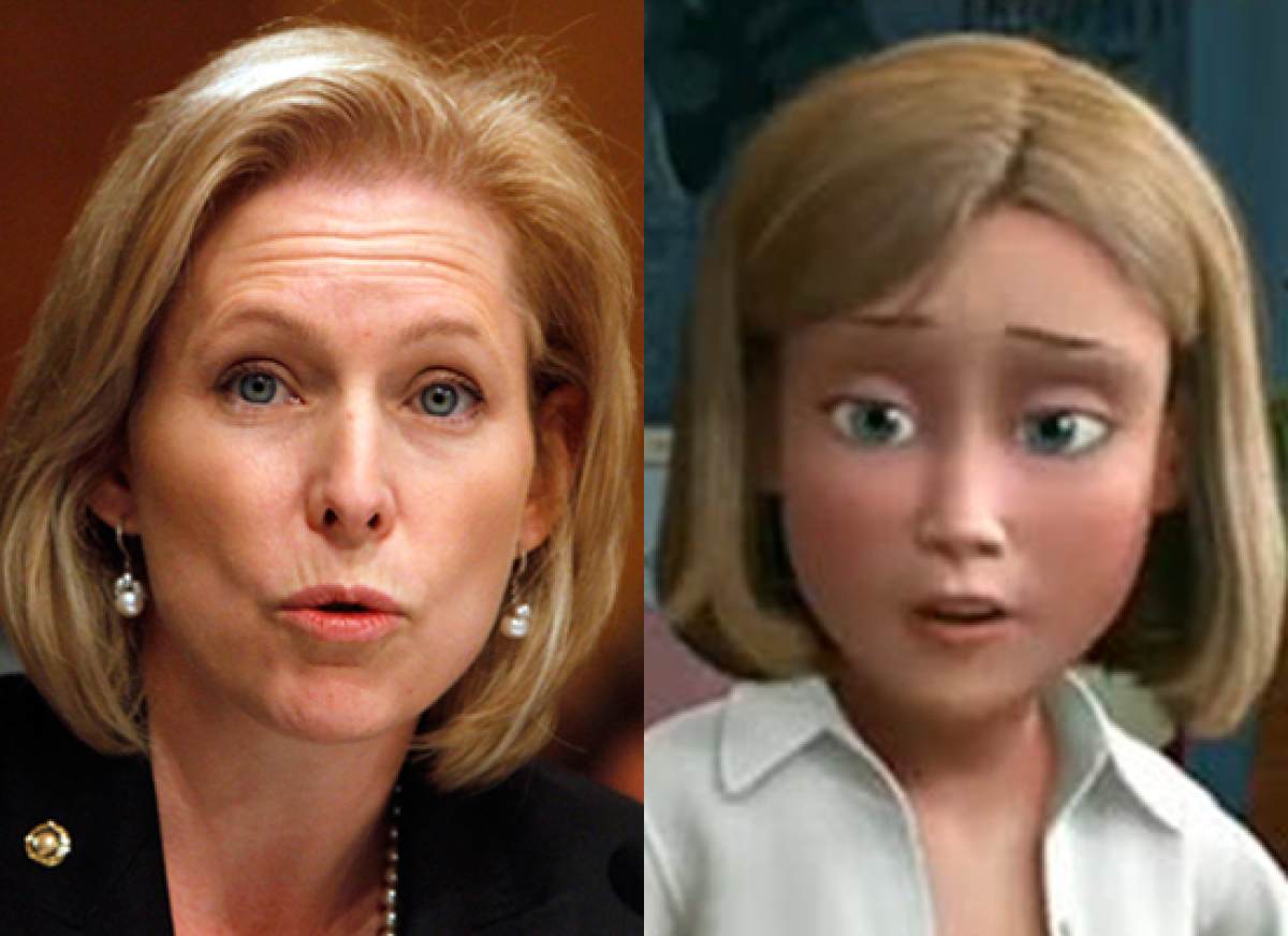 Politicians Who Look Like Disney  Sen. Kirsten Gillibrand (D-N.Y.) & Andy's Mom (Toy Story)