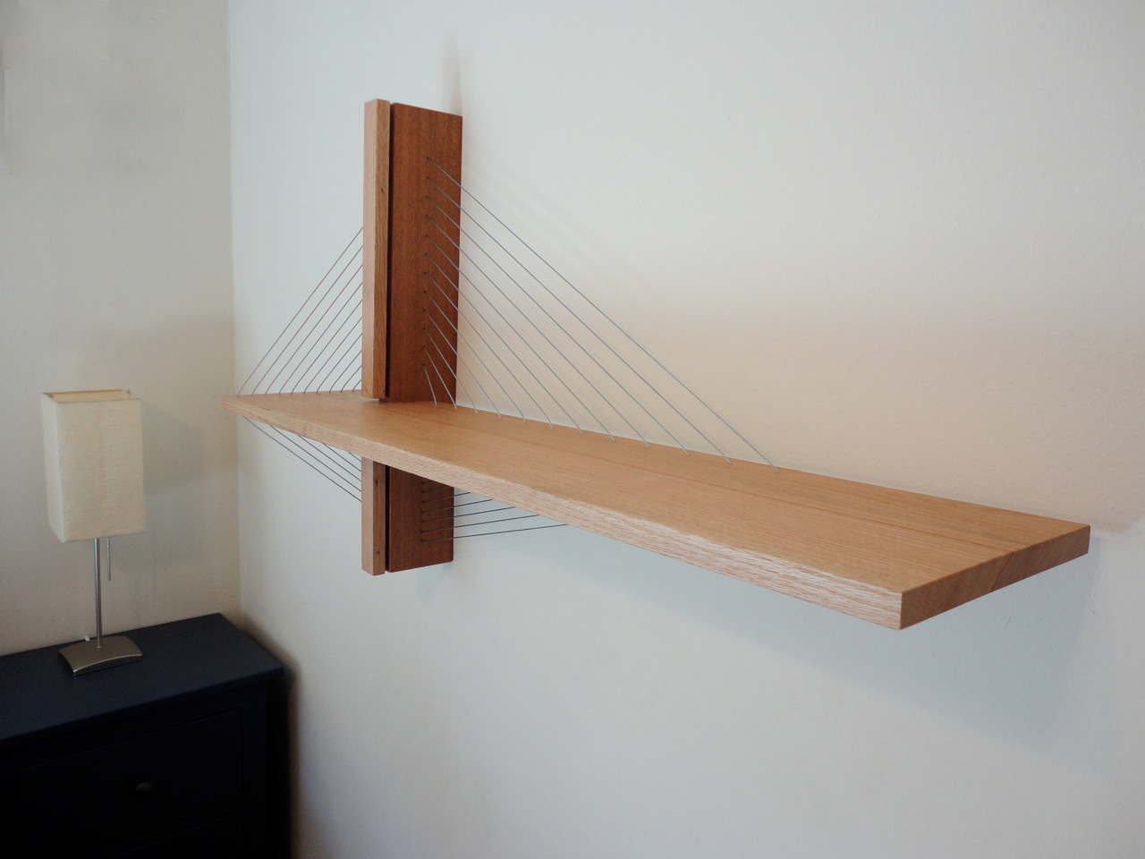 Awesome furniture are held together only by tension Shelf
