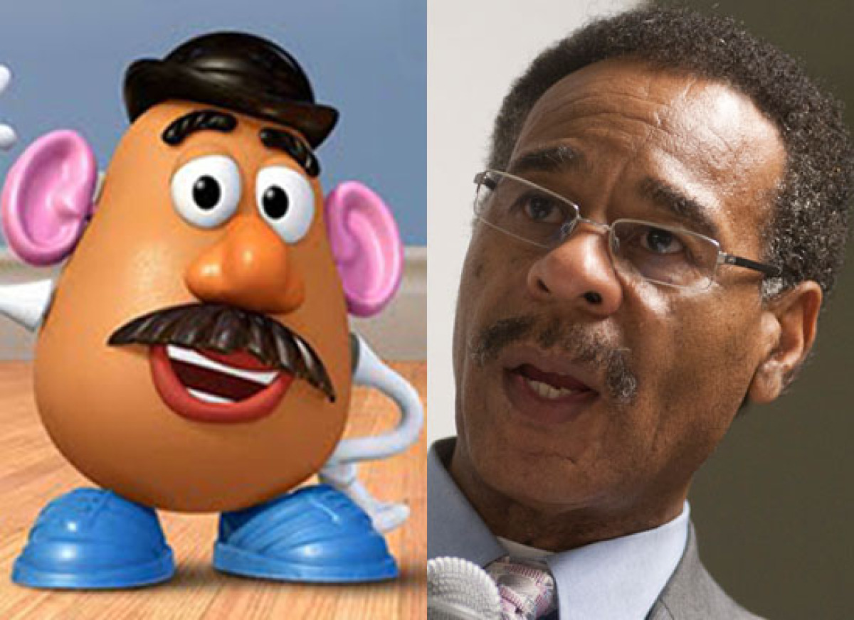 Politicians Who Look Like Disney  Rep. Emanuel Cleaver (D-Mo.) & Mr. Potato Head (Toy Story)