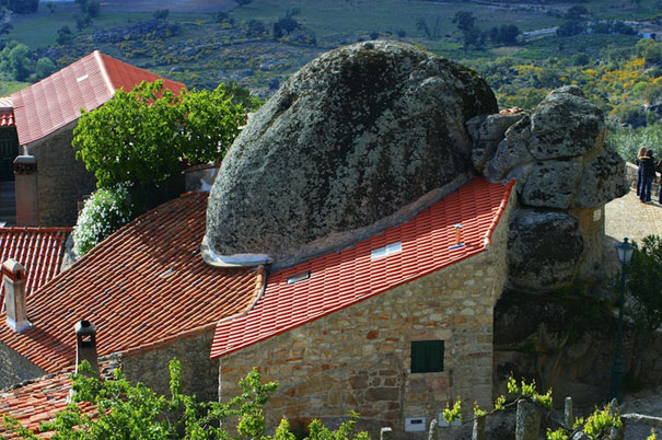 this medieval village Monsanto is squeezed between rocks