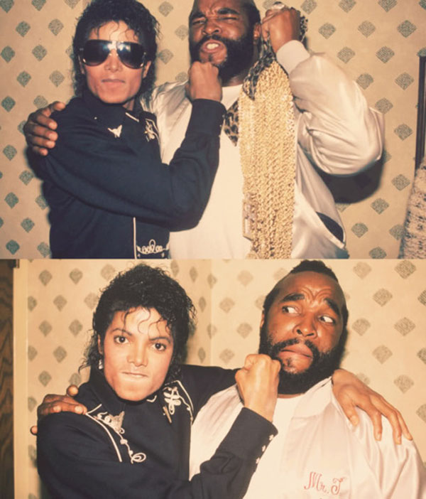 rare photos of the old and the dead Michael Jackson & Mr. T