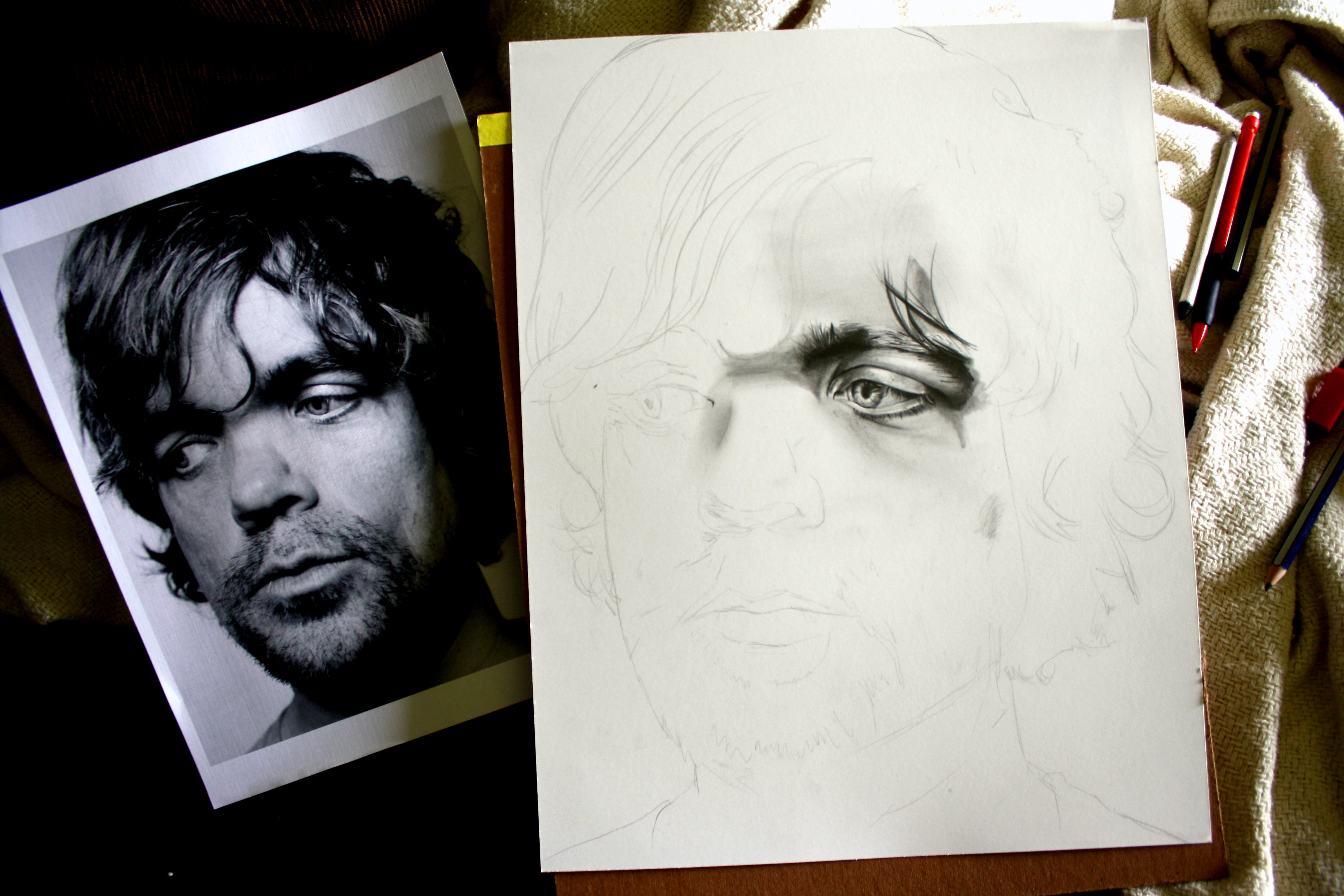 a Tyrion Lannister 's drawing. Wow, this even looks better than real pictures!