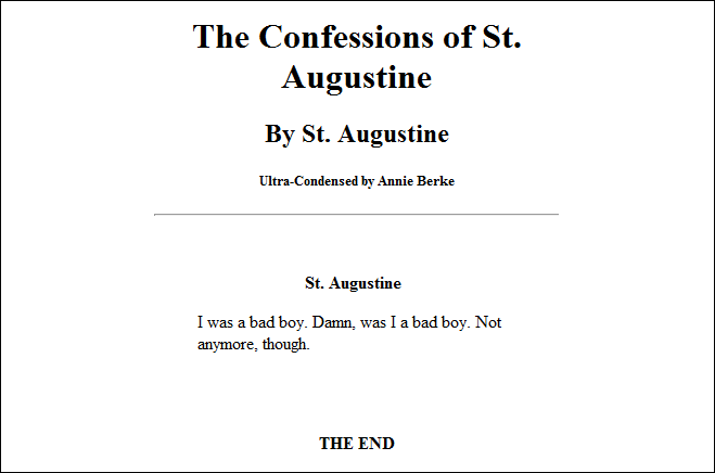 Ultra-Condensed Classic Books  The Confessions of St. Augustine