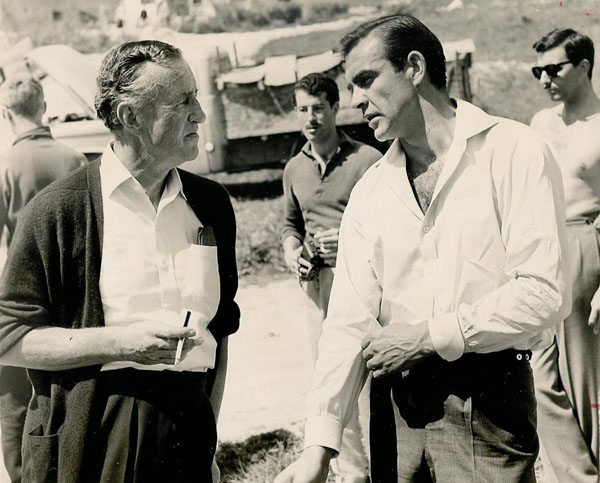 rare photos of the old and the dead Ian Fleming and Sean Connery