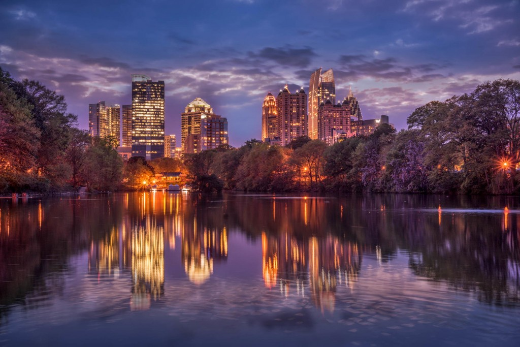 travel photography of French you don't want to miss Atlanta Piedmont Park view