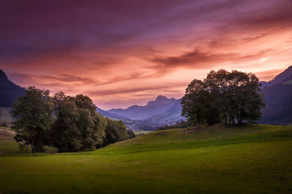 travel photography of French you don't want to miss French Alpes Sunset