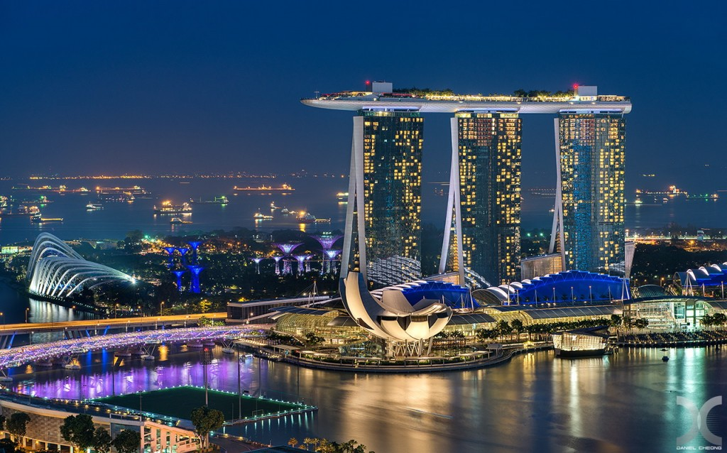 fancy photographs of some big cities by Daniel Cheong   Marina Bay Sands