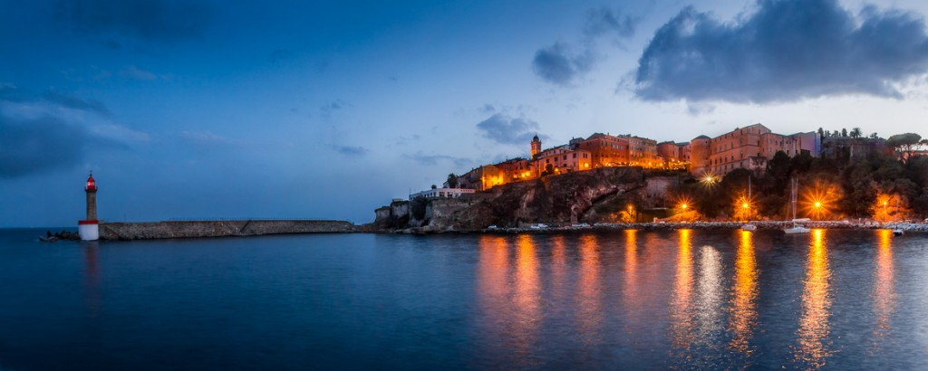 travel photography of French you don't want to miss Pano Bastia Corsica Early Morning