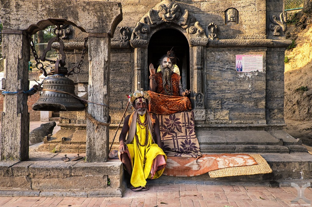 fancy photographs of some big cities by Daniel Cheong   Sadhus of Pashupatinah Temple