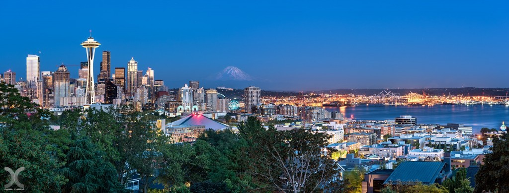 fancy photographs of some big cities by Daniel Cheong   Seattle Blues