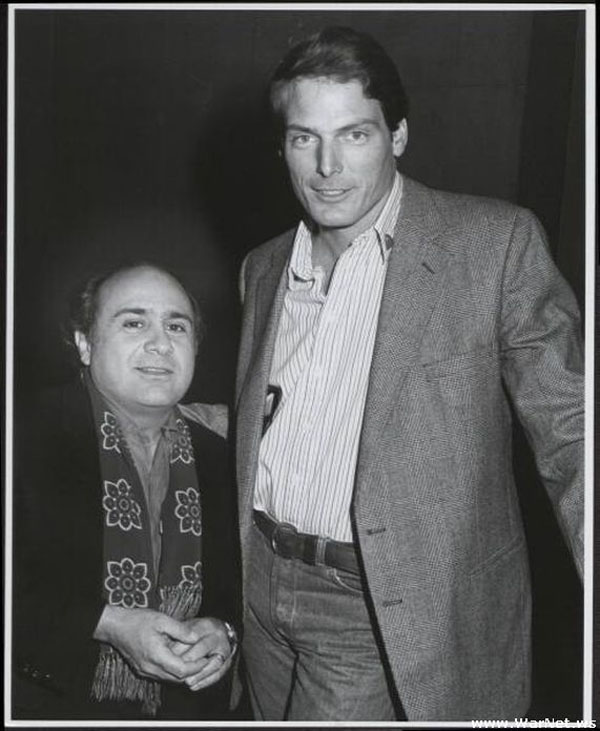 rare photos of the old and the dead Danny DeVito and Christopher Reeve