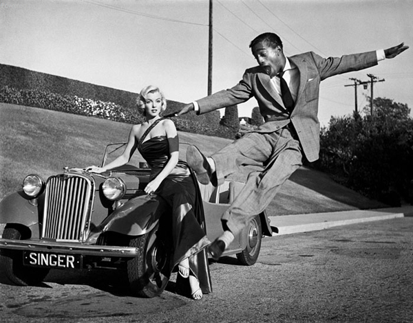 rare photos of the old and the dead Marilyn Monroe and Sammy Davis Jr.