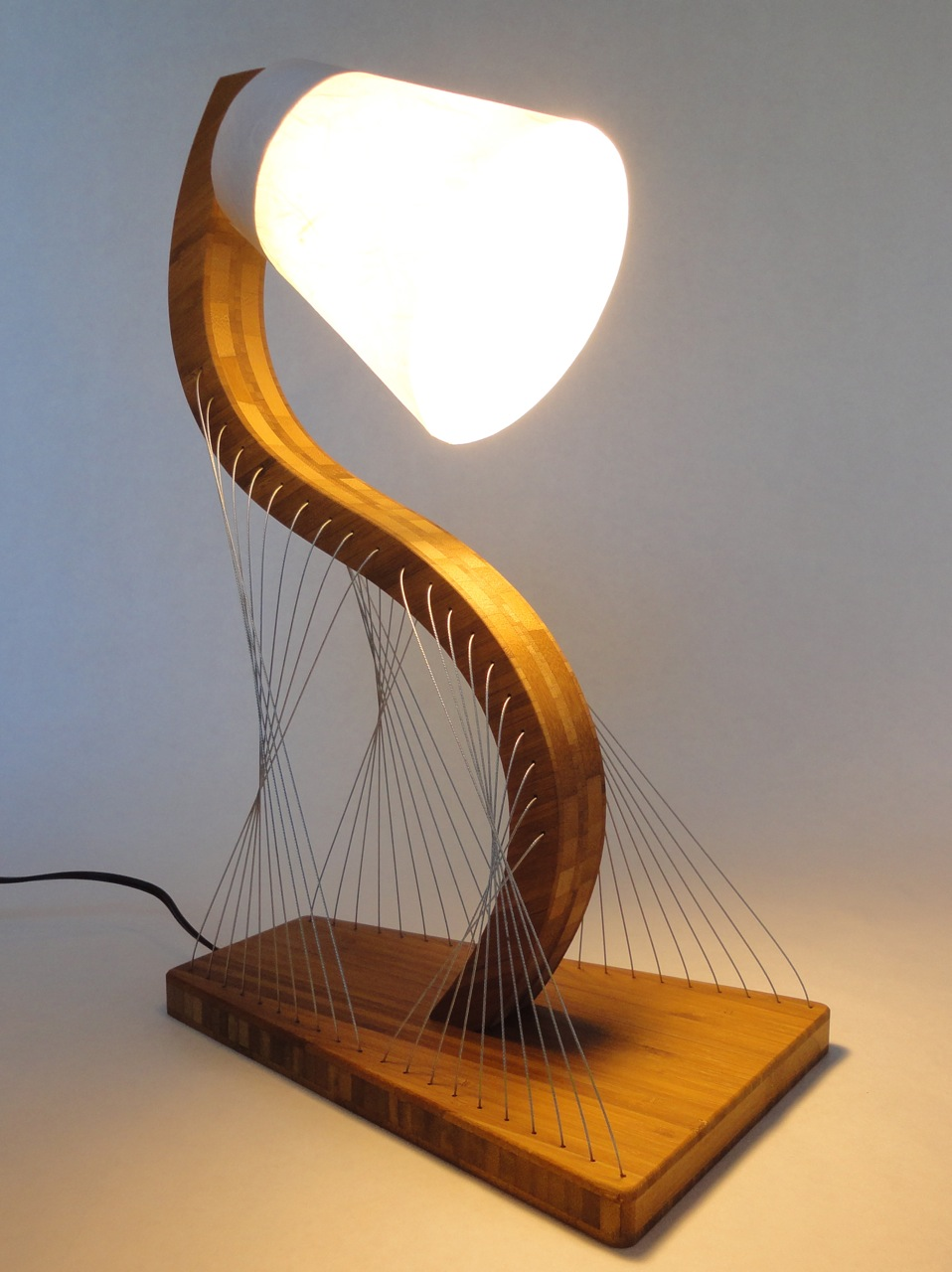 Awesome furniture are held together only by tension lamp
