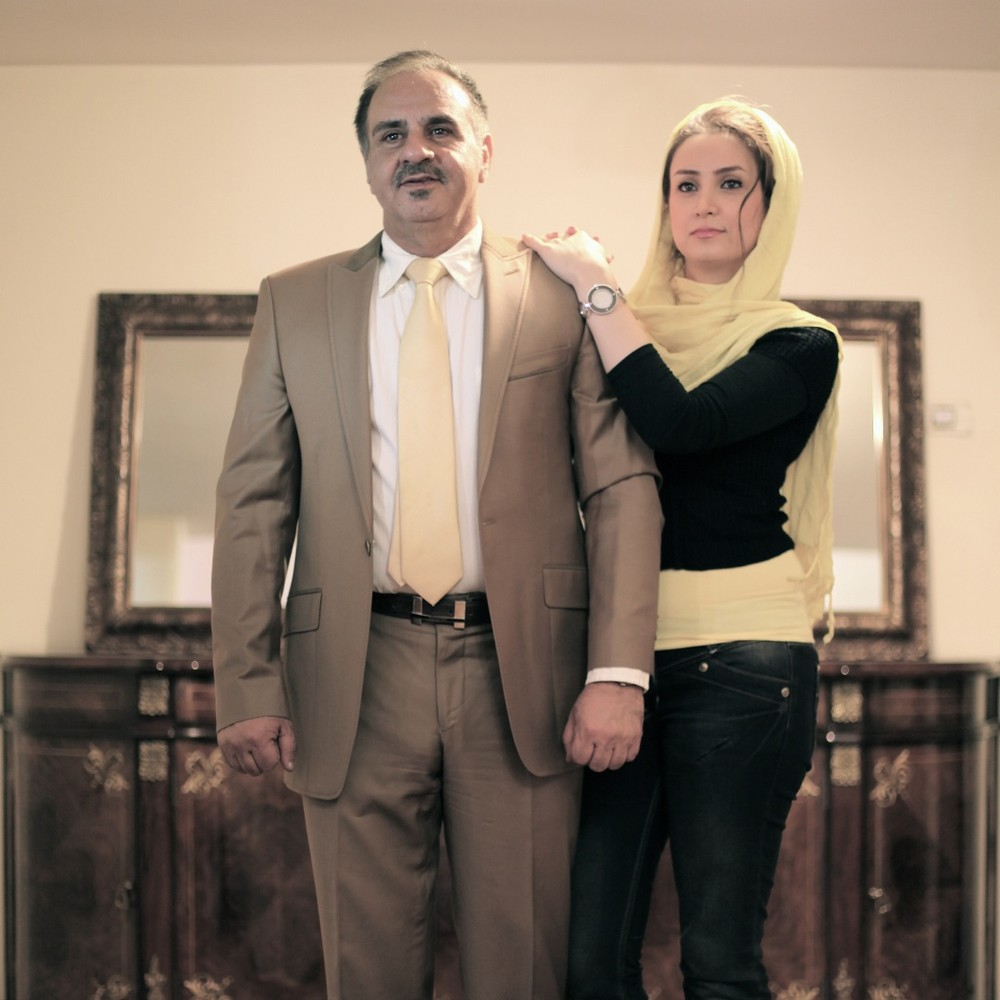 portraits of Iranian fathers & daughters in different social classes