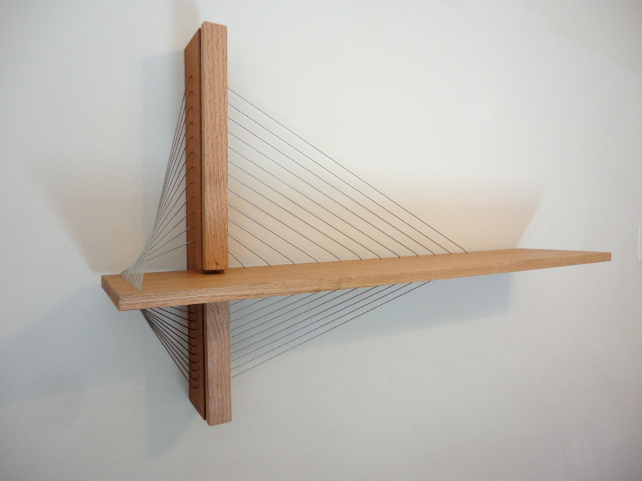 Awesome furniture are held together only by tension  Book Shelf