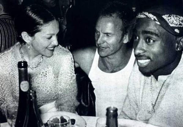 rare photos of the old and the dead Madonna, Sting, and 2Pac