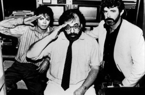 rare photos of the old and the dead Michael Jackson, Francis Ford Coppola, and George Lucas