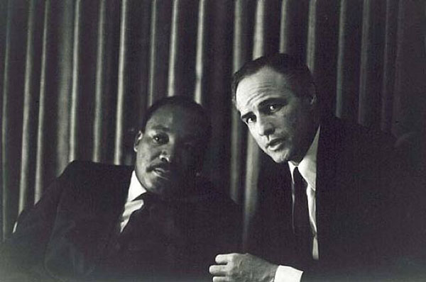 rare photos of the old and the dead Martin Luther King Jr. and Marlon Brando