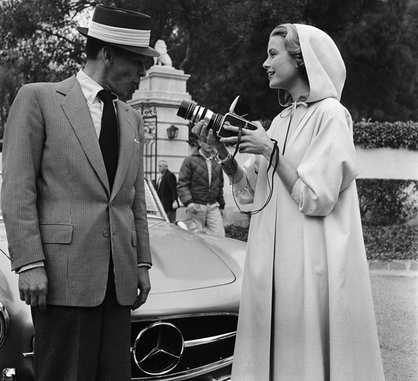 rare photos of the old and the dead Frank Sinatra and Grace Kelly