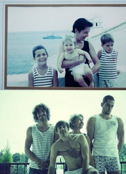 33 of some recreate childhood photos