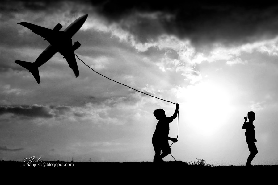 incredibly stunning children's photographs by 3 Joko fly my plane....!