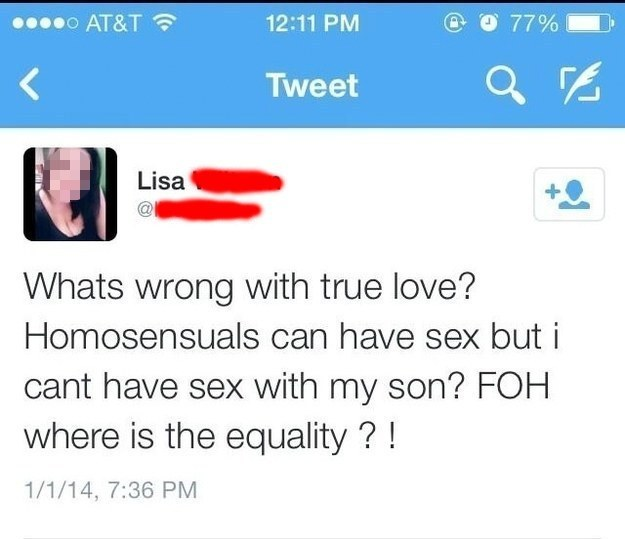 """Lisa standing up for what she """"believes"""":"""